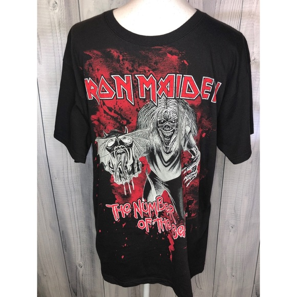 Hanes Other - IRON MAIDEN Graphic Tee The Number of the Beast